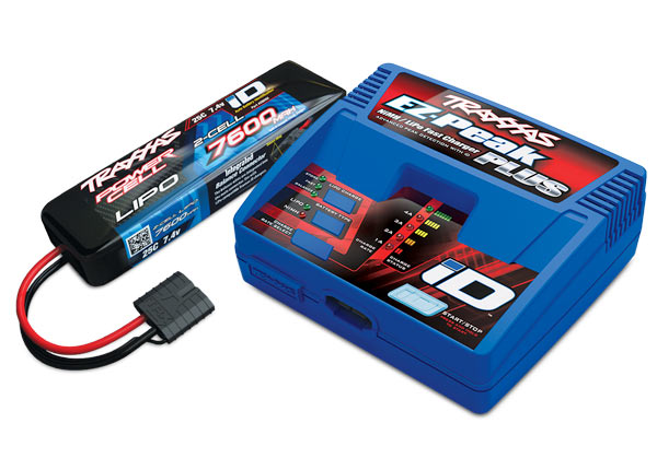 Traxxas EZ-Peak 2S Completer Pack with a 7600mAh LiPo