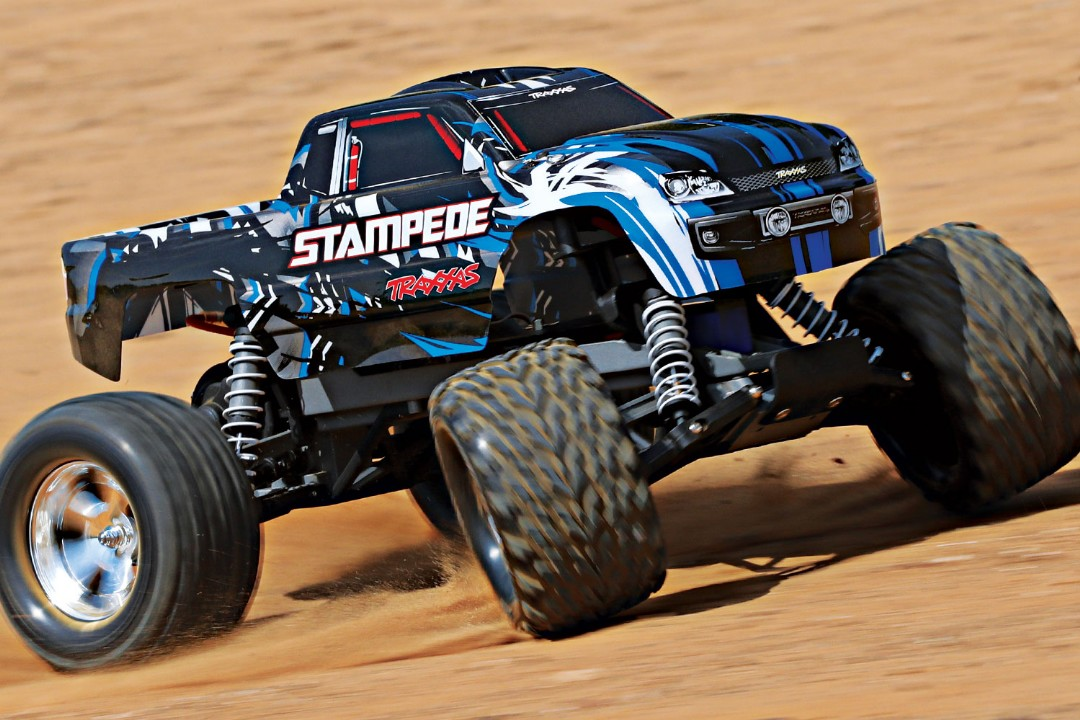 Traxxas Stampede 1/10 2wd XL-5 NO BATTERY/CHARGER - Blue - Click Image to Close