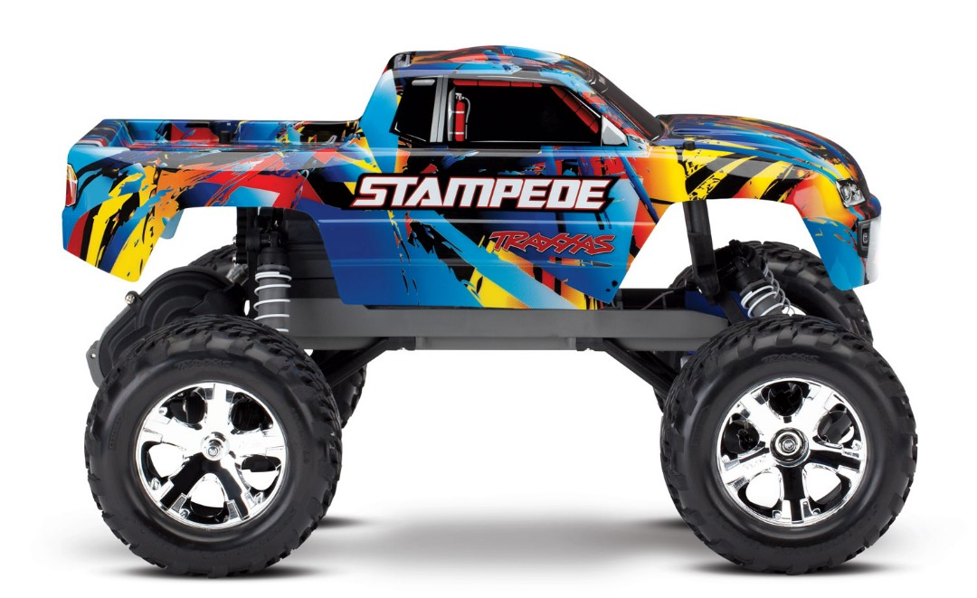 Traxxas Stampede 1/10 2wd XL-5 NO BATTERY/CHARGER - Rock n' Roll - Click Image to Close