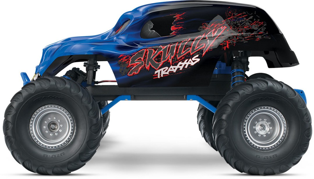 "Traxxas ""Skully"" 1/10 RTR Monster Truck Blue"