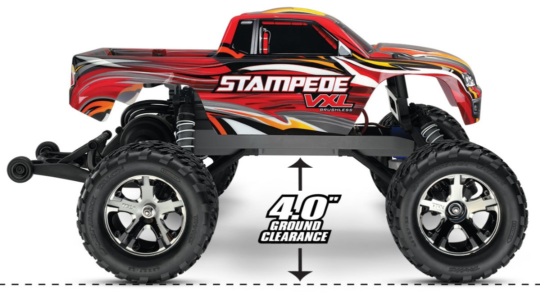 Traxxas Stampede VXL 1/10 RTR 2WD Monster Truck Red