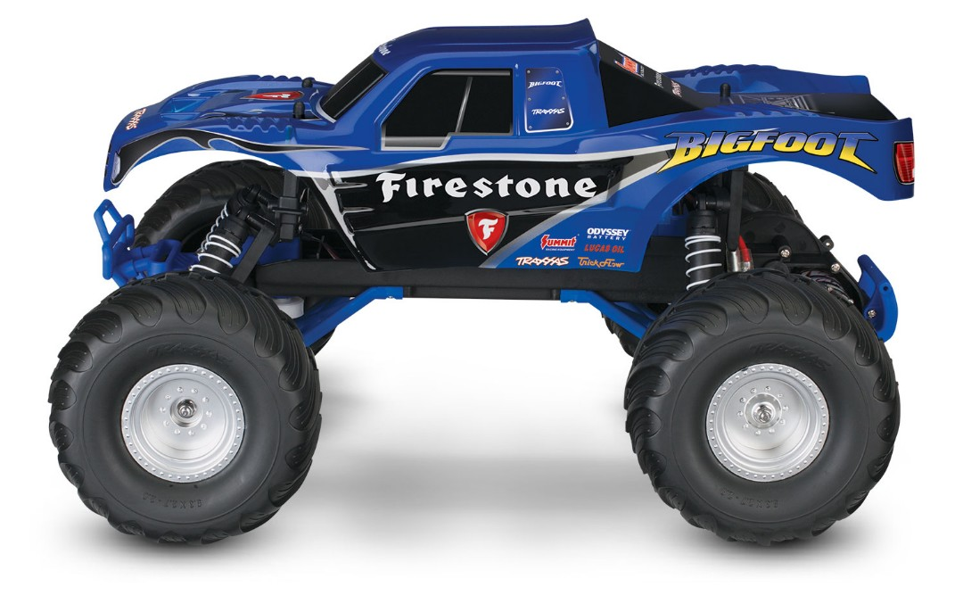 Traxxas Bigfoot Firestone 1:10 Scale 2WD Monster Truck - Blue