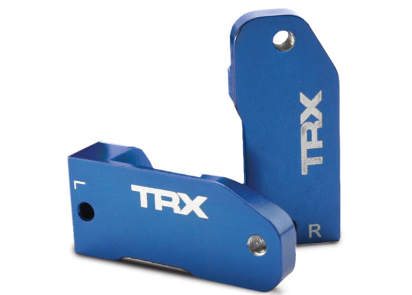 Traxxas L/R Aluminim Caster Blocks 30 Deg (Blue)