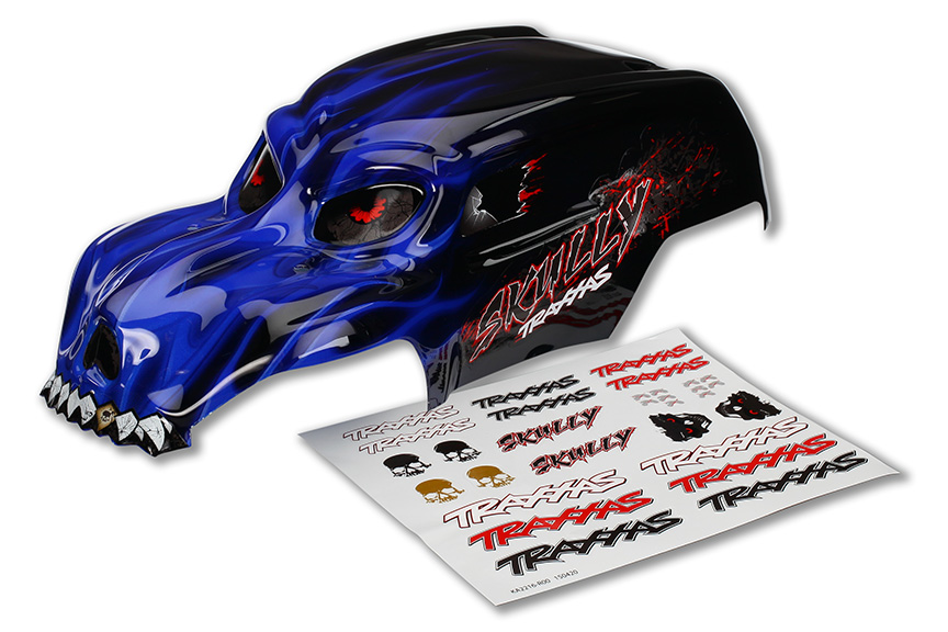 Traxxas Skully Pre-Painted Body w/Decals (Blue)