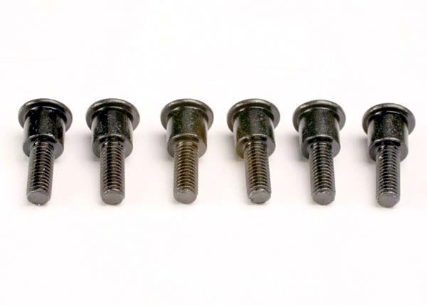 Traxxas Attachment screws, shock (3x12mm shoulder screws) (6)