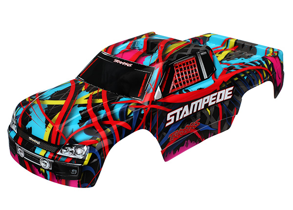 Traxxas Body, Stampede, Hawaiian graphics (painted, decals appl