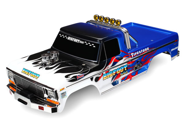 Traxxas Body, Bigfoot Flame, Officially Licensed replica (painte
