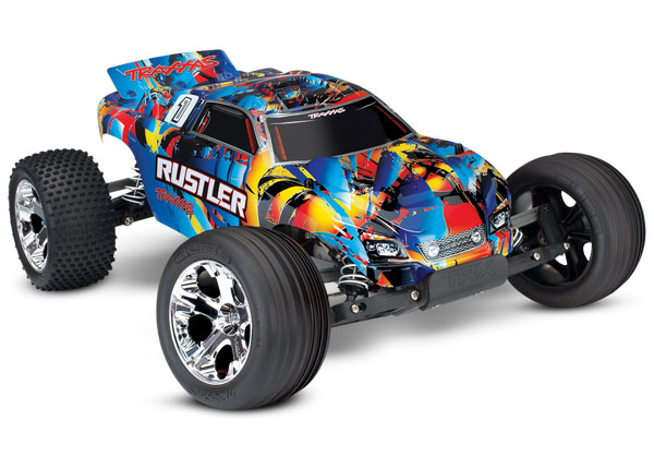 Traxxas Rustler 1/10 RTR Stadium Truck Rock and Roll - Click Image to Close