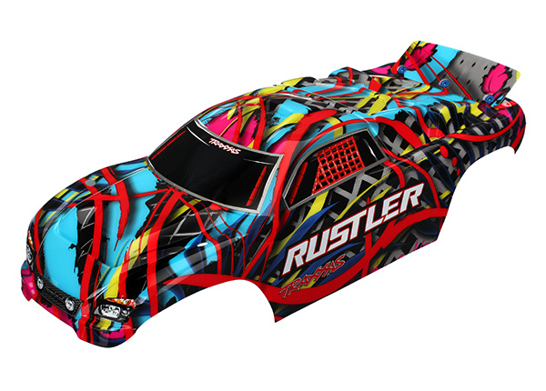Traxxas Body, Rustler, Hawaiian graphics (painted, decals applie