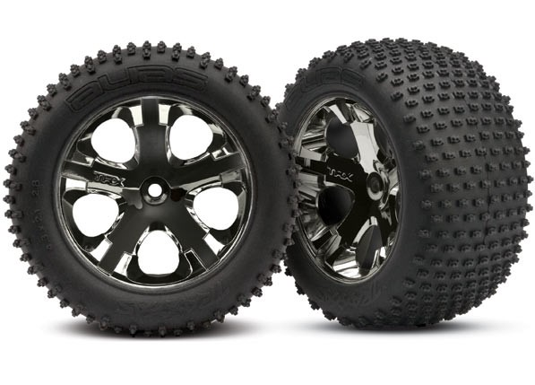 Traxxas Tires & wheels, assembled, glued (2.8')