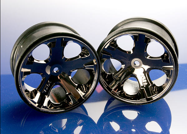 Traxxas Wheels, All-Star 2.8' (Black Chrome) (Electric Rear)