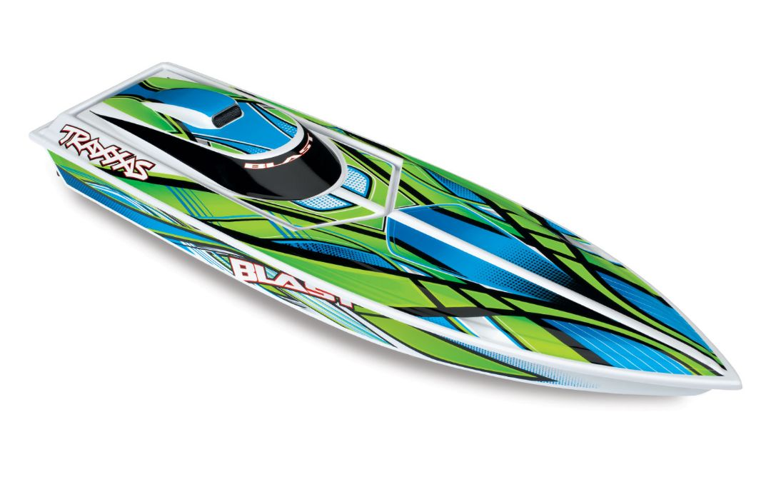 "Traxxas Blast 24"" High Performance RTR Race Boat - Green"