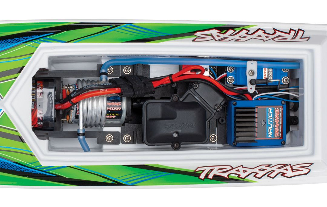 "Traxxas Blast 24"" High Performance RTR Race Boat - Green - Click Image to Close"