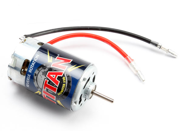 Traxxas Motor, Titan 550, reverse rotation (21-turns/ 14 volts)