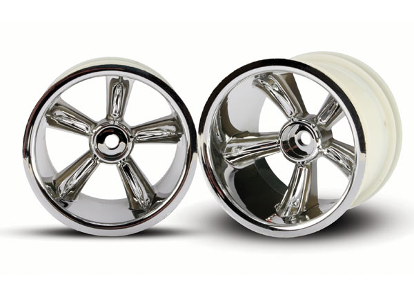 Traxxas 12mm Hex Pro-Star Rear Wheels (2) (Chrome)
