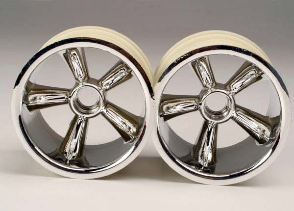 Traxxas Pro-Star Front Wheels (2) (Chrome) (Not Hex)