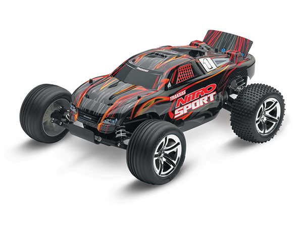 Traxxas Nitro Sport: 1/10-Scale Nitro-Powered 2wd Stadium - Blac