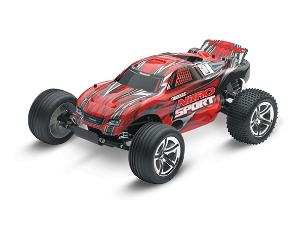 Traxxas Nitro Sport: 1/10-Scale Nitro-Powered 2wd Stadium - Red