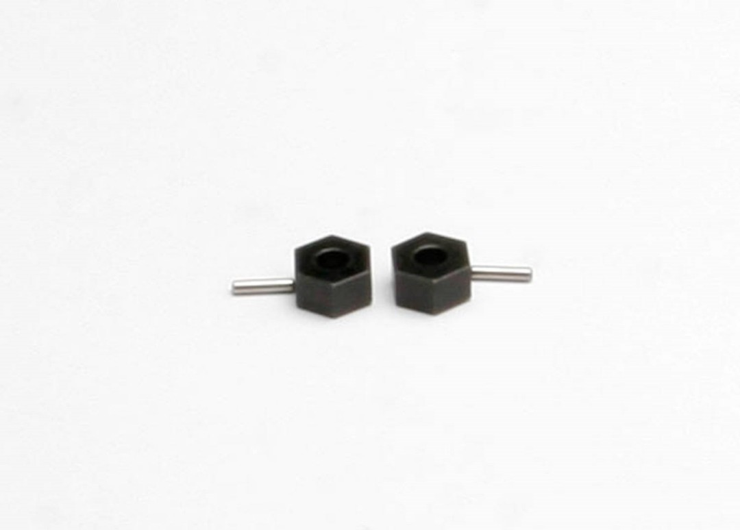 Traxxas Hex Wheel Hubs (Tall Offset, 14x7.5mm)(2)/Axle Pins