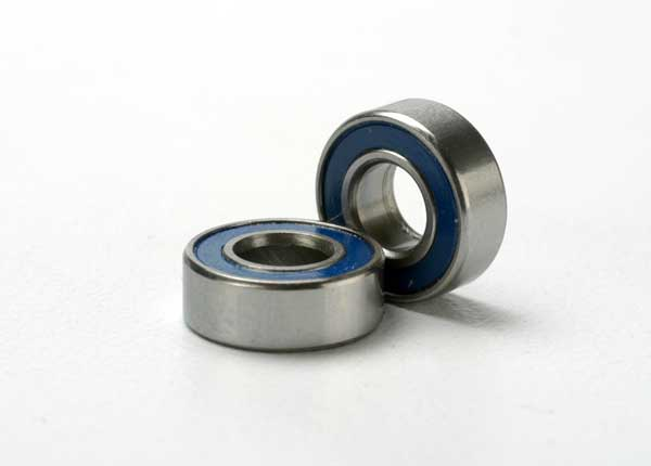 Traxxas Ball Bearing, Blue Rubber Sealed (5x11x4mm) (2)