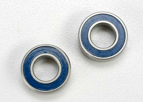 Traxxas Ball Bearing, Blue Rubber Sealed (6x12x4mm) (2)