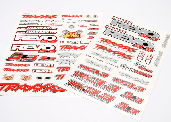 Traxxas Decal Set, Revo 3.3 (Revo Logos And Graphics Decal Sheet