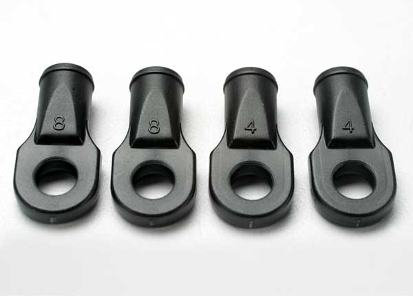 Traxxas Rod ends, Revo (large, for rear toe link only) (4)
