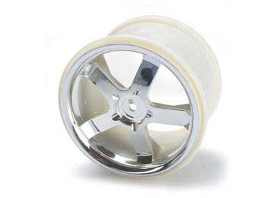 Traxxas 3.8 Hurricane Monster Truck Rims (2) (Revo) (Chrome)