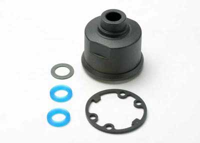 Traxxas Carrier, differential/ x-ring gaskets (2)/ ring gear gas