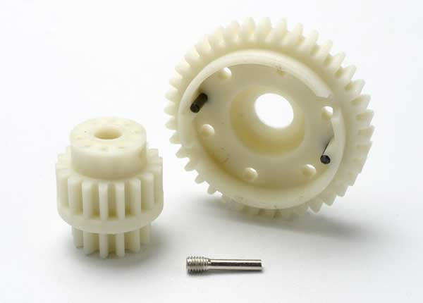 Gear set, 2-speed wide ratio (2nd speed gear 38T, 13T-18T input