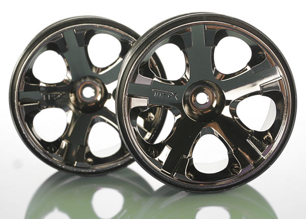 Traxxas 12mm Hex Wheels, All-Star 2.8' (black chrome)