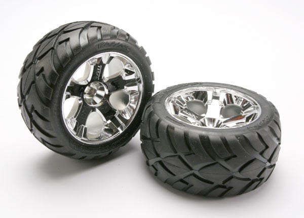 "Traxxas Anaconda Wheels & Tires 2.8"" nitro rear/electric front"