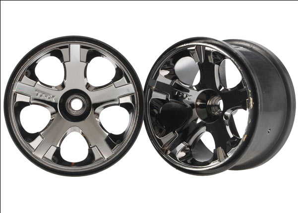 Traxxas Wheels, All-Star 2.8' (Black Chrome) (Nitro Front) (2)