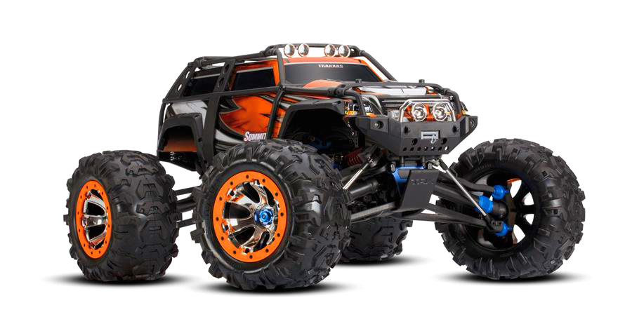 Traxxas Summit RTR 4WD Monster Truck Orange with TQi - Click Image to Close