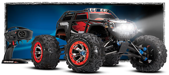 Traxxas Summit RTR 4WD Monster Truck Red with TQi