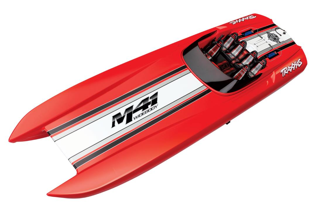 "Traxxas DCB M41 Widebody 40"" Catamaran Race Boat Red"