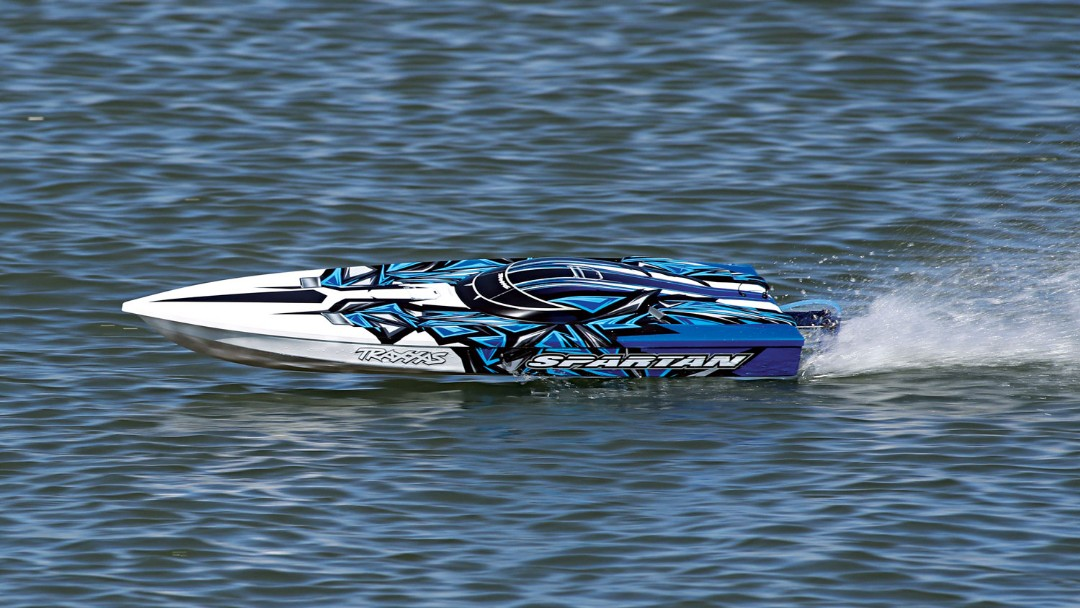 "Traxxas Spartan Brushless 36"" Race Boat, Blue"
