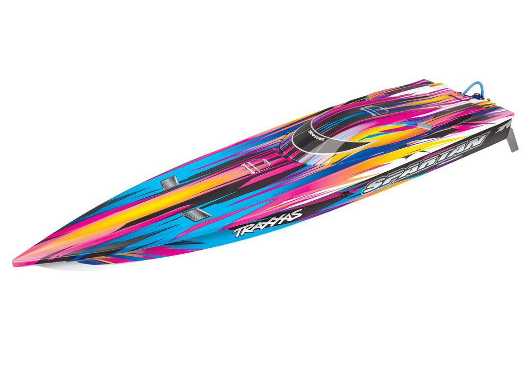 "Traxxas Spartan Brushless 36"" Race Boat, Pink"