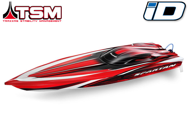 "Traxxas Spartan Brushless 36"" Race Boat Red"
