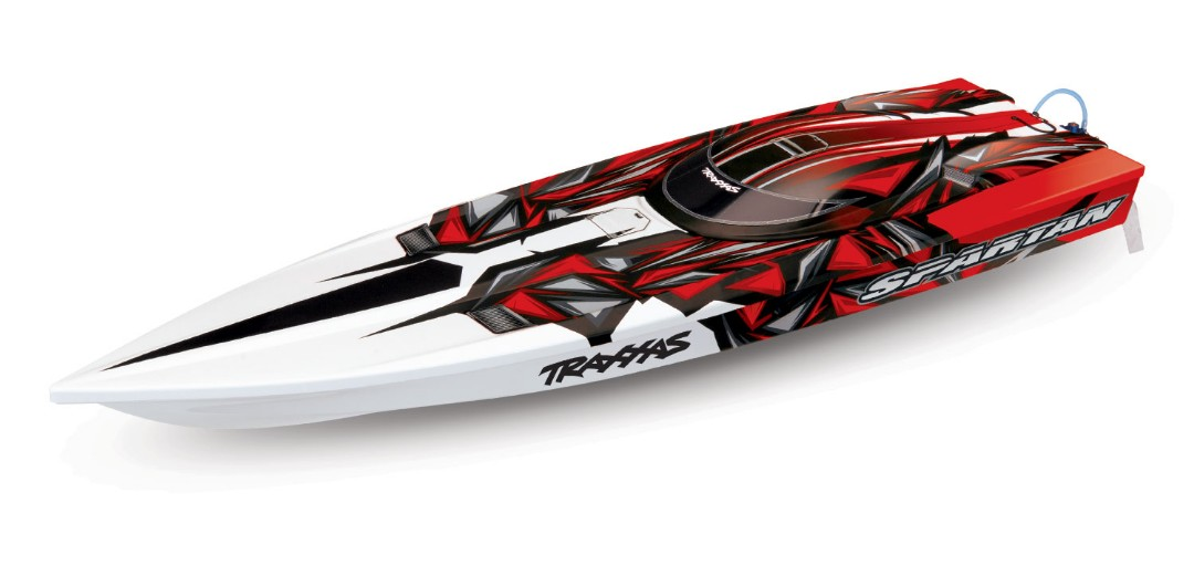 "Traxxas Spartan Brushless 36"" Race Boat, Red"
