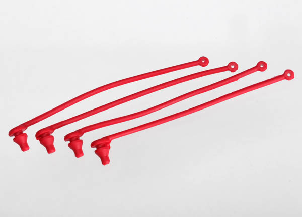 Traxxas Body Clip Retainer (Red) (4)