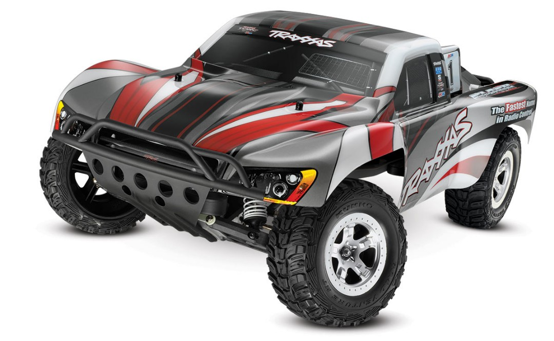 Traxxas Slash 2WD 1/10 Silver/Red, Brushed, No Battery/Charger