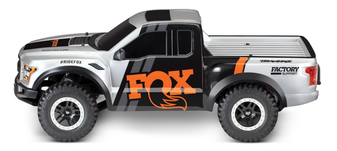 Traxxas Fox 2017 Ford Raptor RTR 1/10 2WD Truck - Click Image to Close