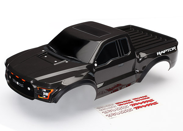 Traxxas Body, 2017 Ford Raptor (Black), with Decals Applied