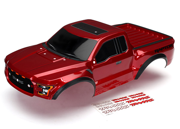 Traxxas Body, 2017 Ford Raptor (Red), with Decals Applied