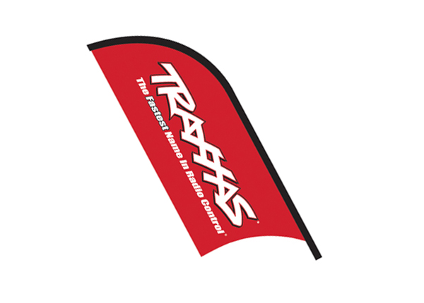 Traxxas 10' Red Traxxas Bow Flag With Stand