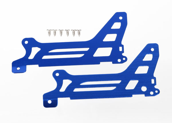 Traxxas Main Frame, Side Plate, Outer (2) (Blue-Anodized) (Alumi