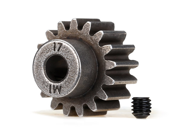Traxxas Gear, 17T pinion (1.0 metric pitch)(for steel spur)