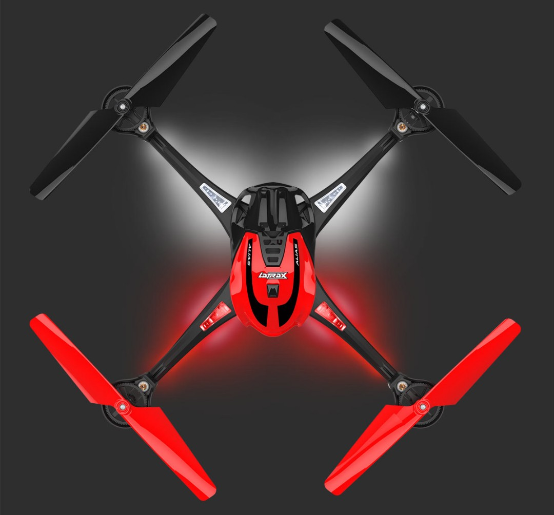 Traxxas LaTrax Alias Ready-To-Fly Micro Electric Quadcopter Red