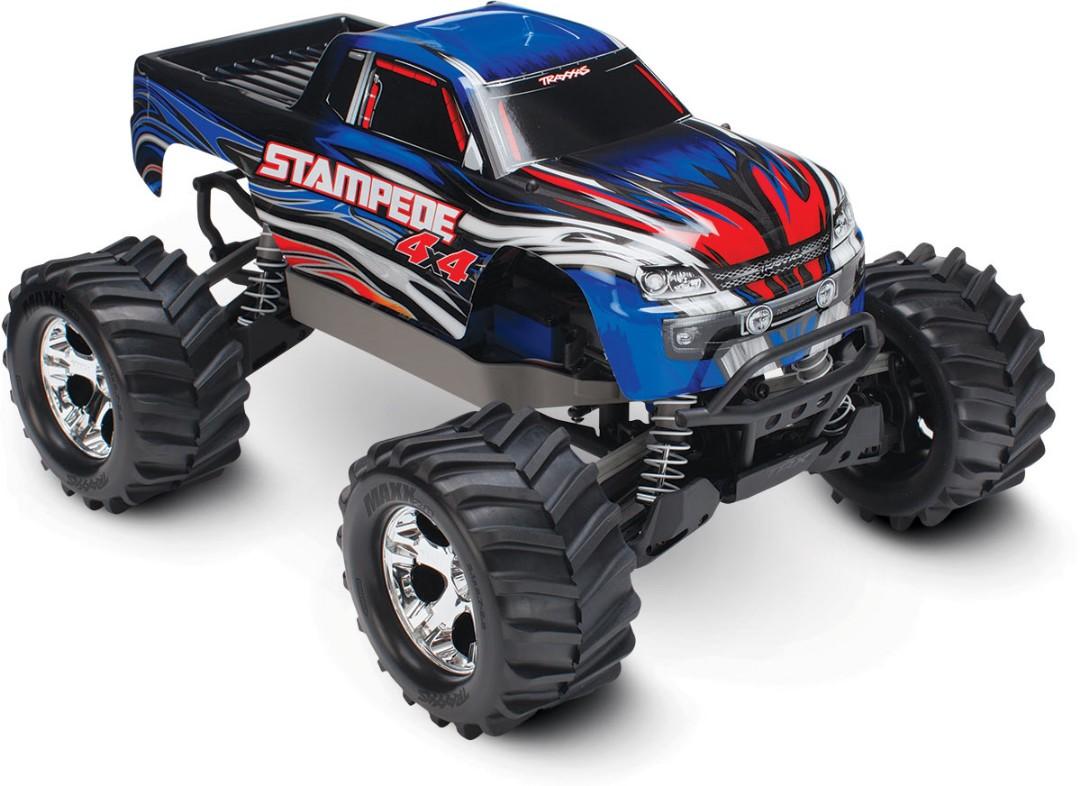 Traxxas Stampede 4X4 brushed Titan 12t motor and XL-5 ESC Blue